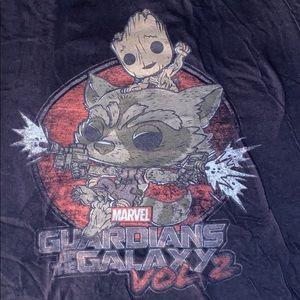 Groot and rocket shirt.
